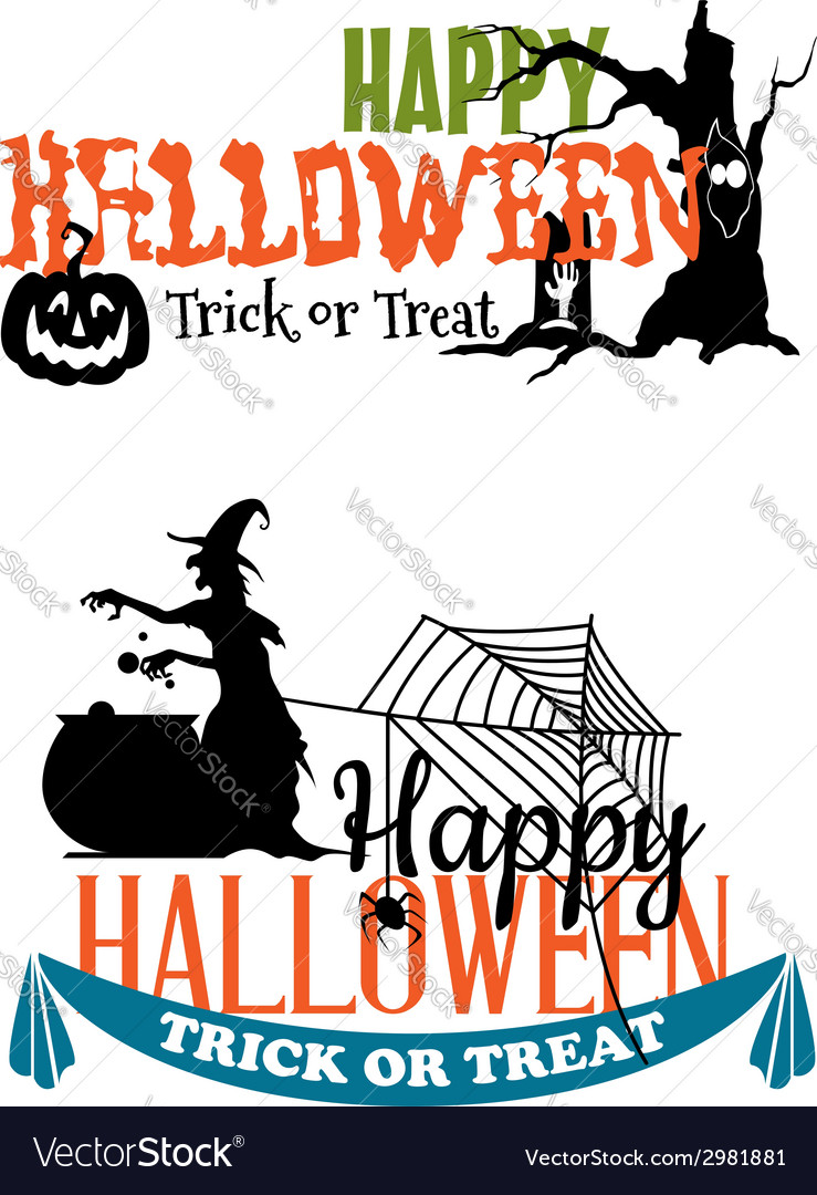 Eerie halloween themed banners vector | Price: 1 Credit (USD $1)