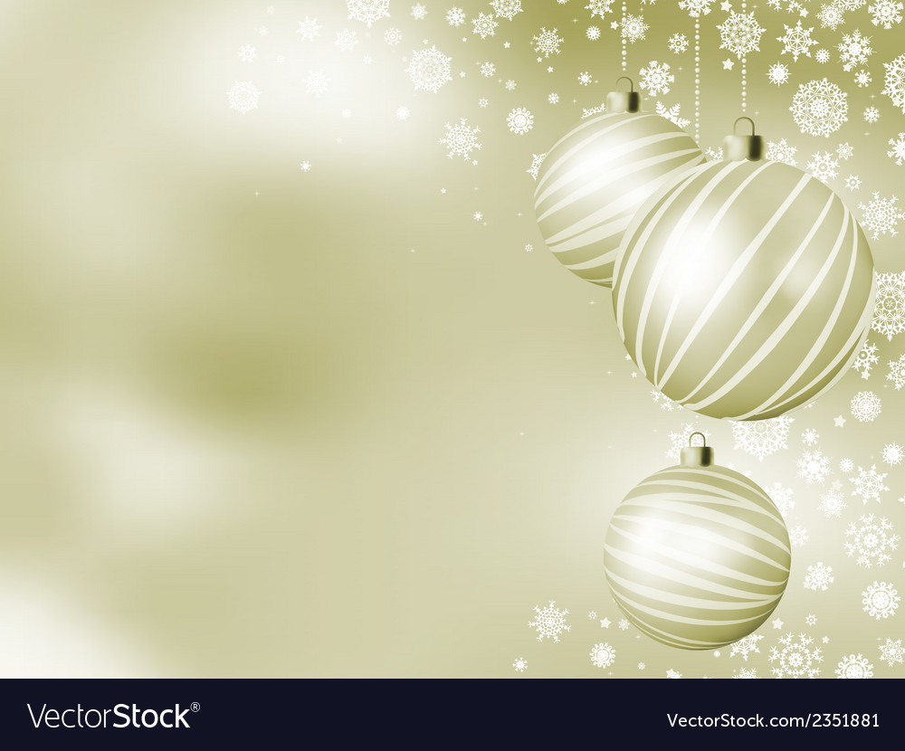 Elegant christmas card with balls eps 8 vector | Price: 1 Credit (USD $1)