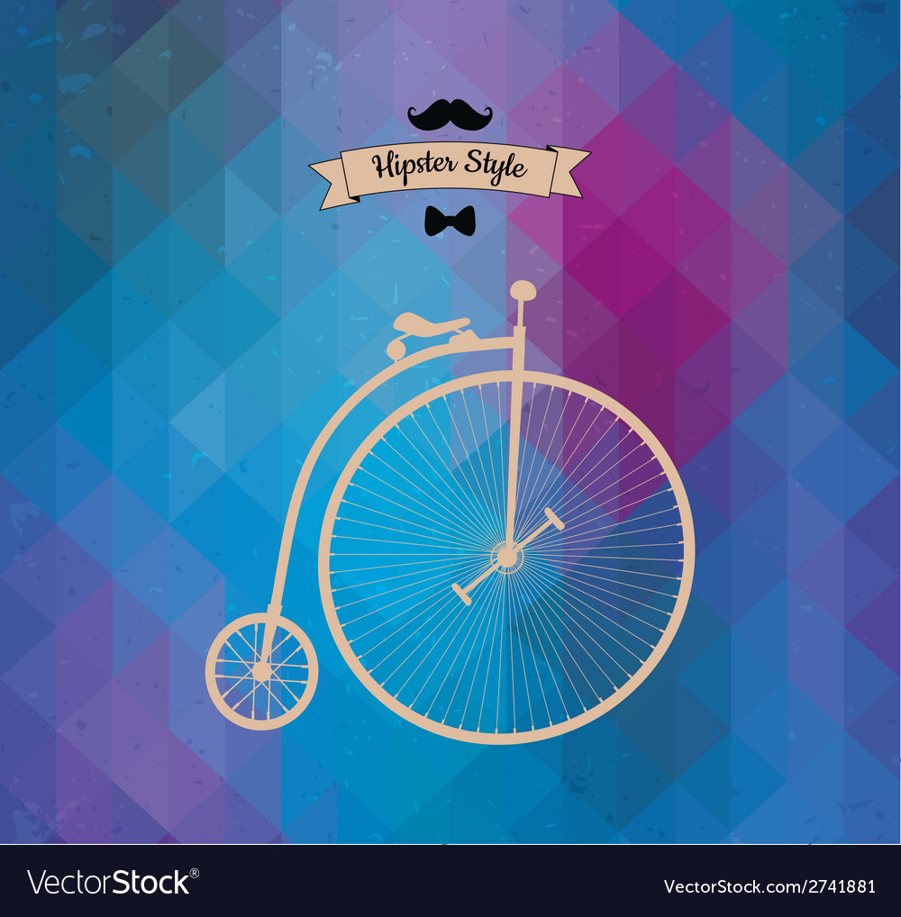 Hipster monocycle triangle background vector | Price: 1 Credit (USD $1)