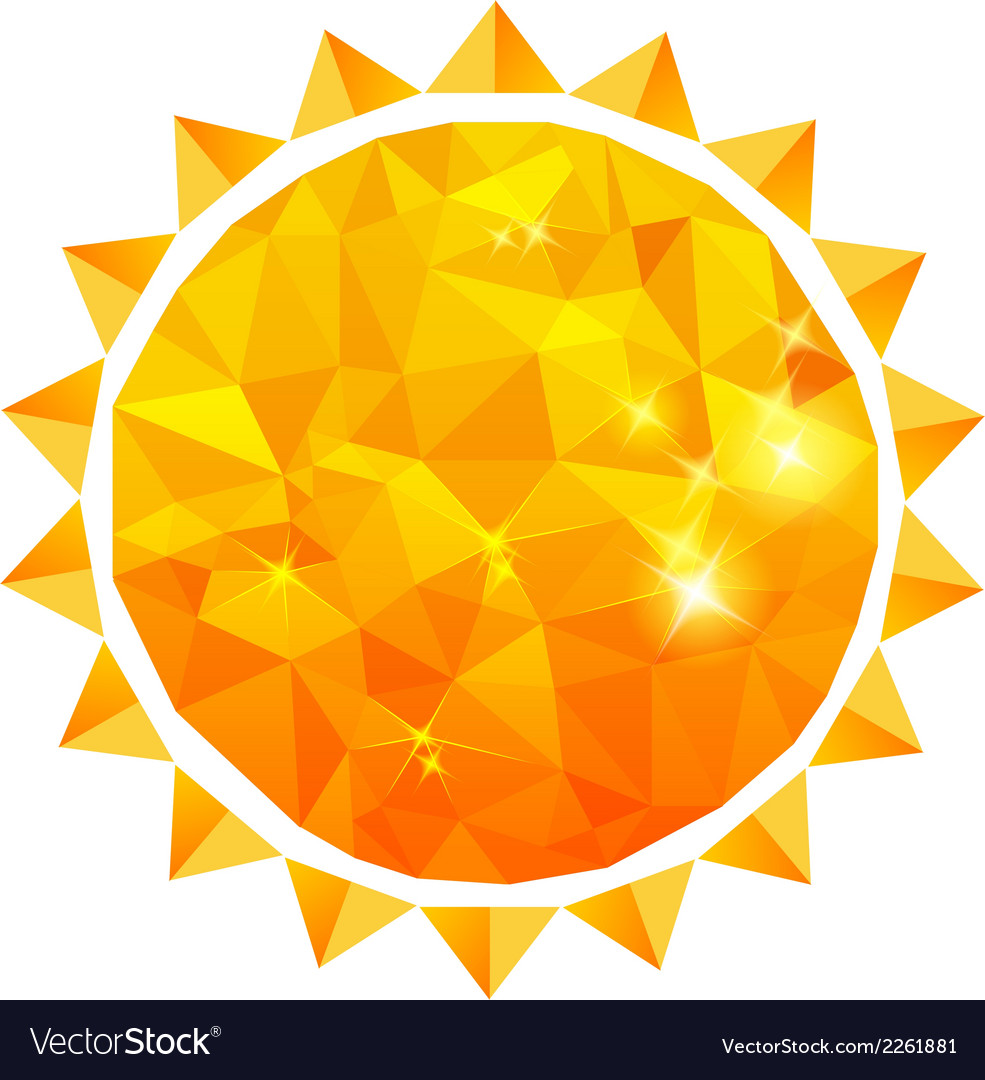 Polygonal sun background vector | Price: 1 Credit (USD $1)