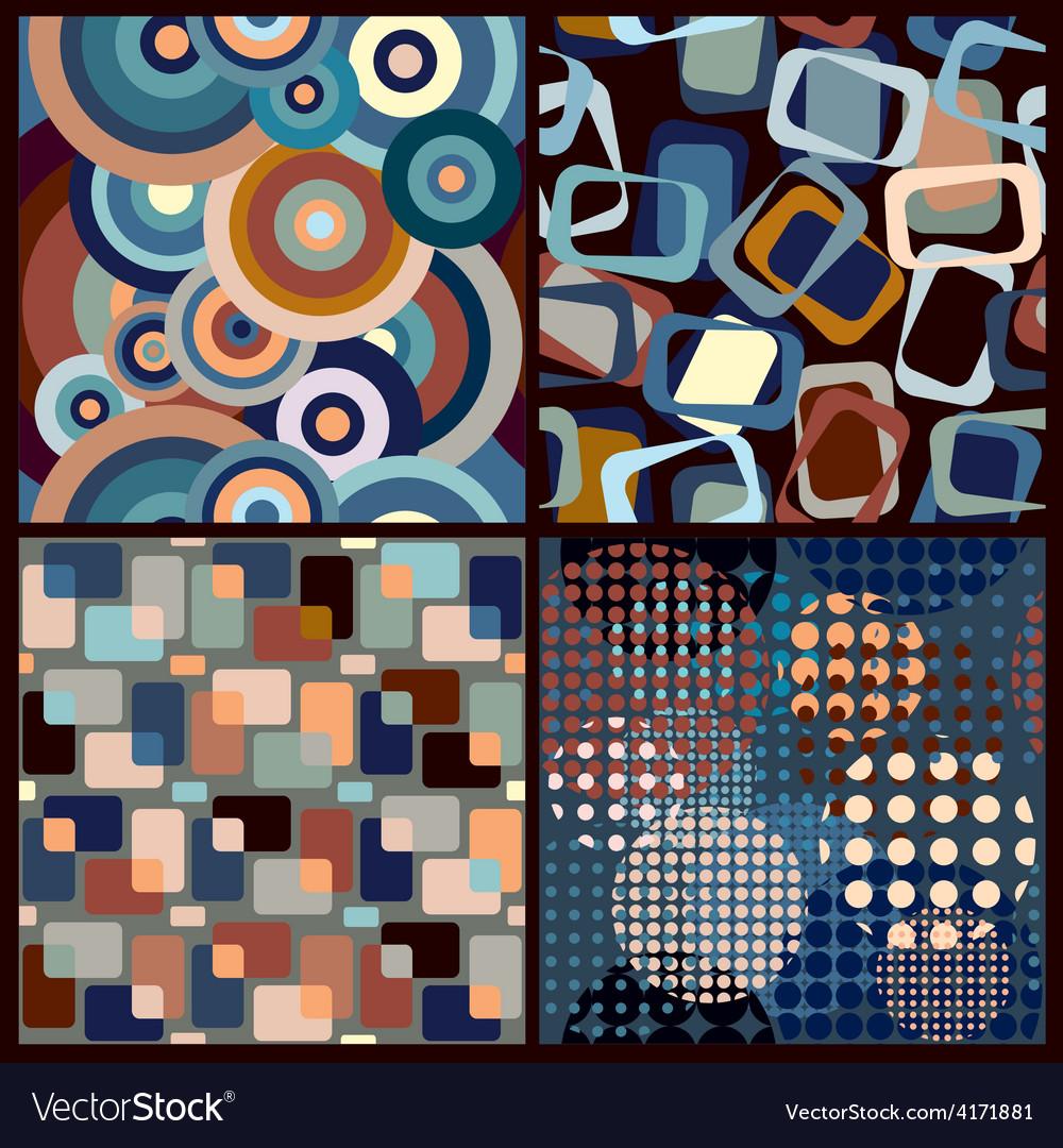 Retro seamless patterns vector | Price: 1 Credit (USD $1)
