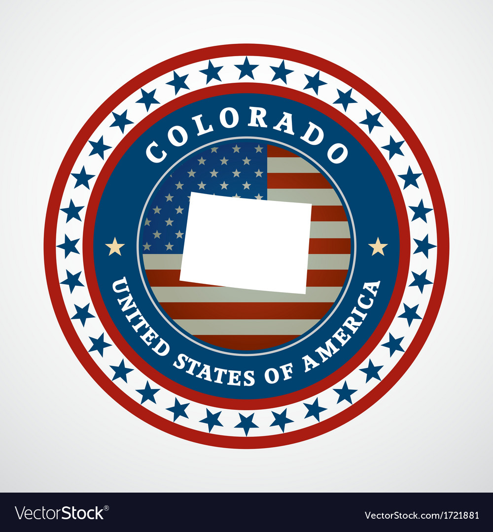 Vintage label colorado vector | Price: 1 Credit (USD $1)