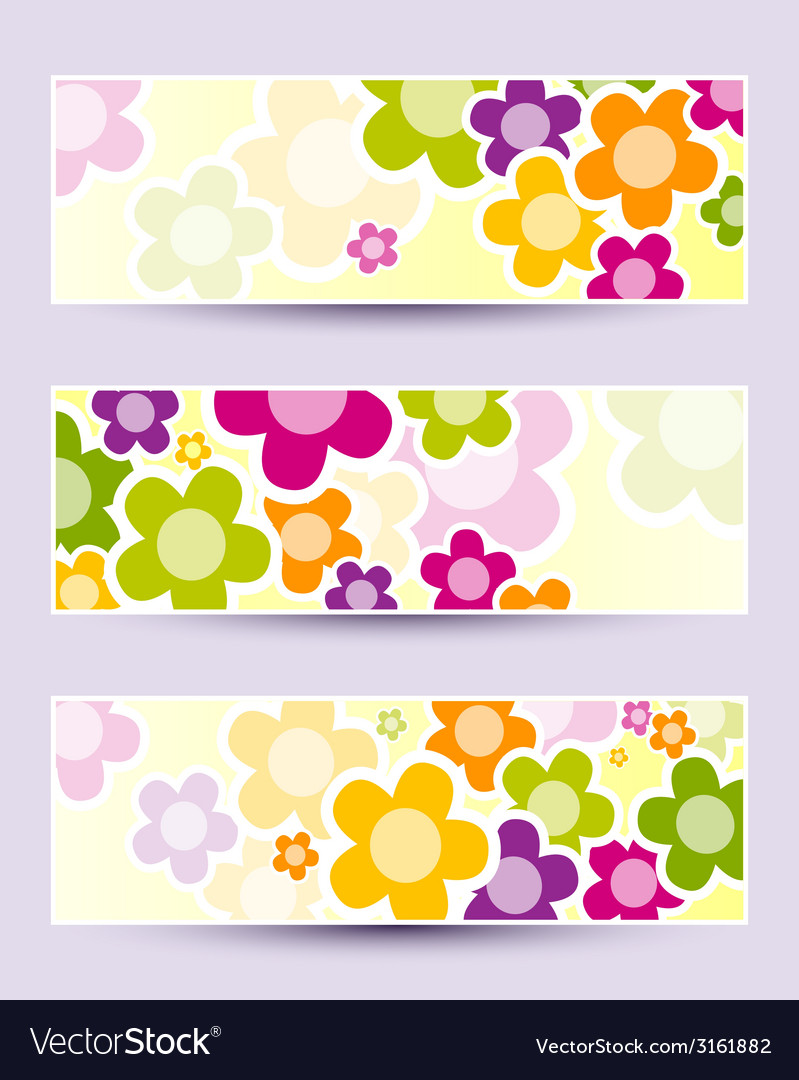 Banner with camomiles vector   Price: 1 Credit (USD $1)