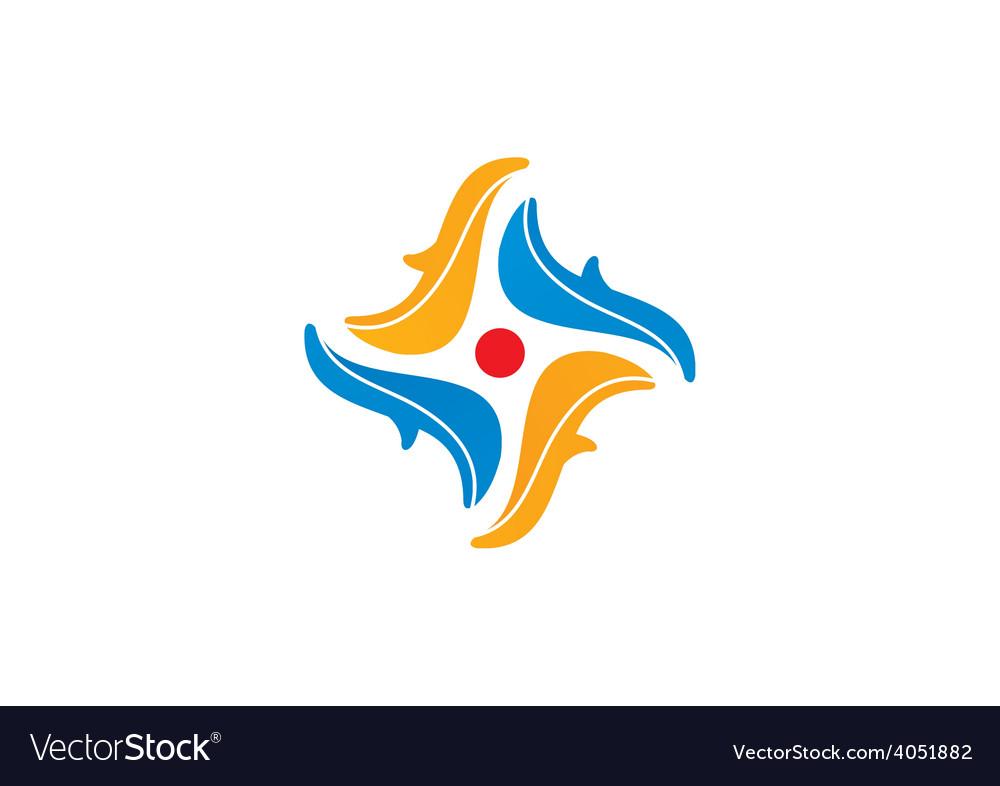 Circle abstract decorative logo vector | Price: 1 Credit (USD $1)