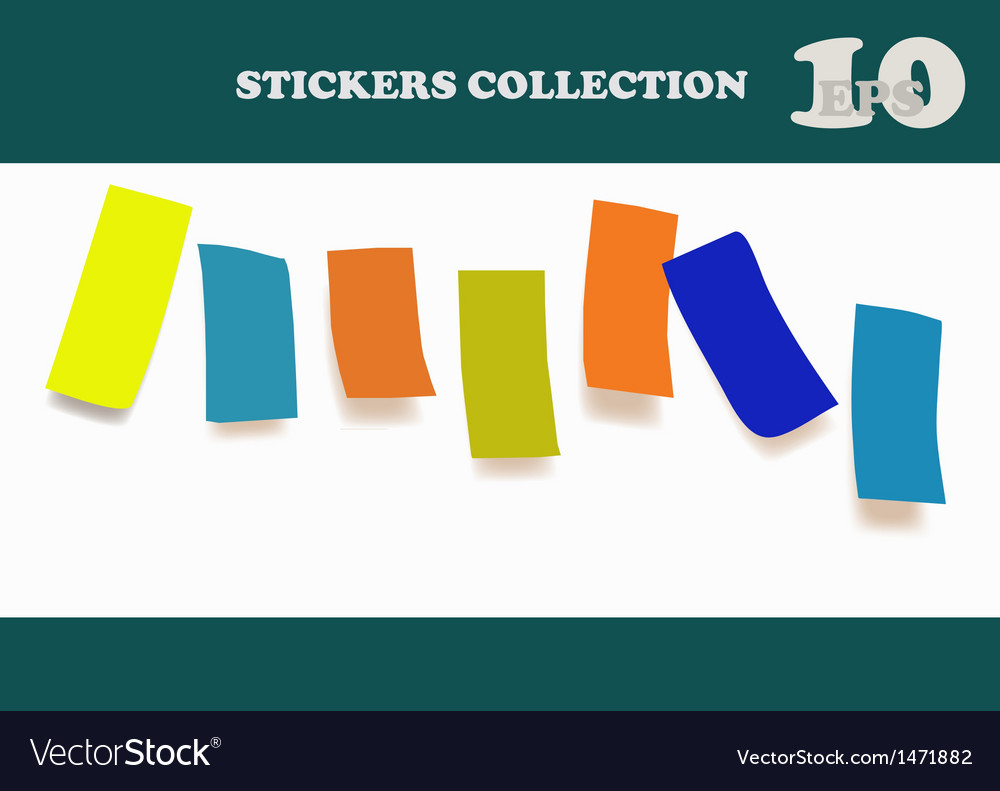 Colored notes paper vector | Price: 1 Credit (USD $1)
