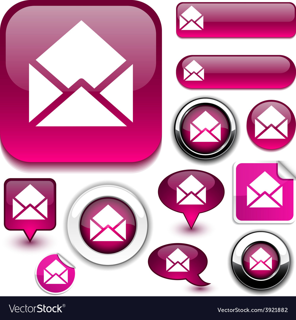 E-mail signs vector | Price: 1 Credit (USD $1)
