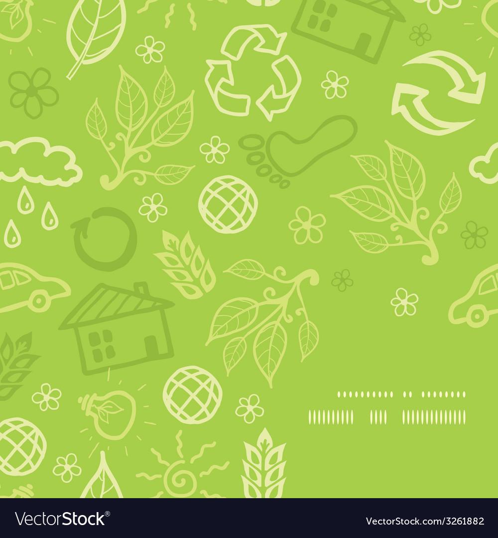 Environmental frame corner pattern background vector | Price: 1 Credit (USD $1)