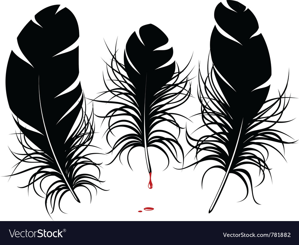 Feather silhouette vector | Price: 1 Credit (USD $1)