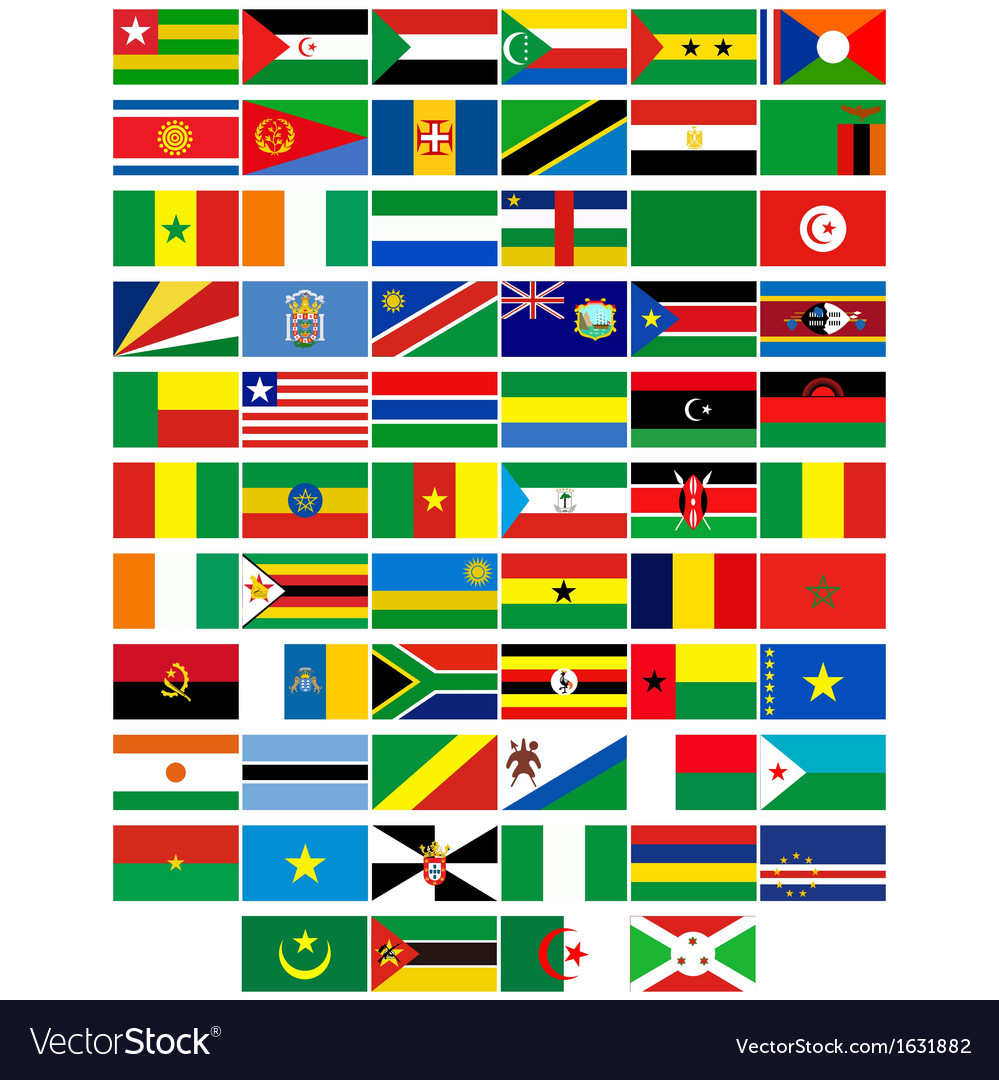 Flags of the countries of africa vector | Price: 1 Credit (USD $1)