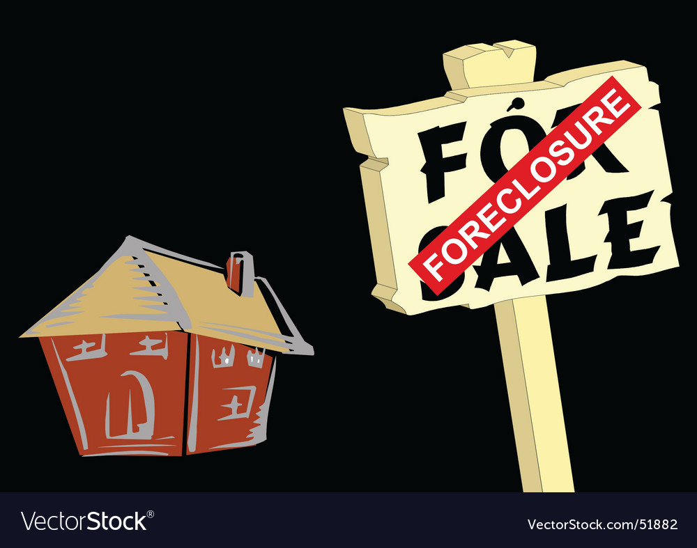 House foreclosure vector | Price: 1 Credit (USD $1)