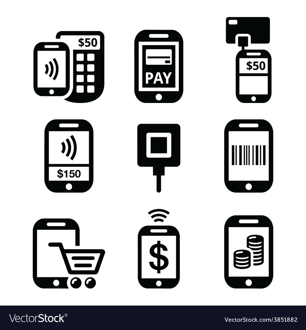 Mobile or cell phone payments paying online vector | Price: 1 Credit (USD $1)