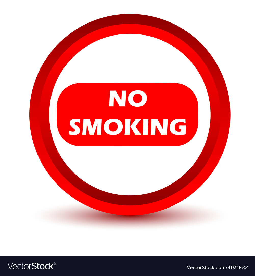 Red no smoking icon vector | Price: 1 Credit (USD $1)