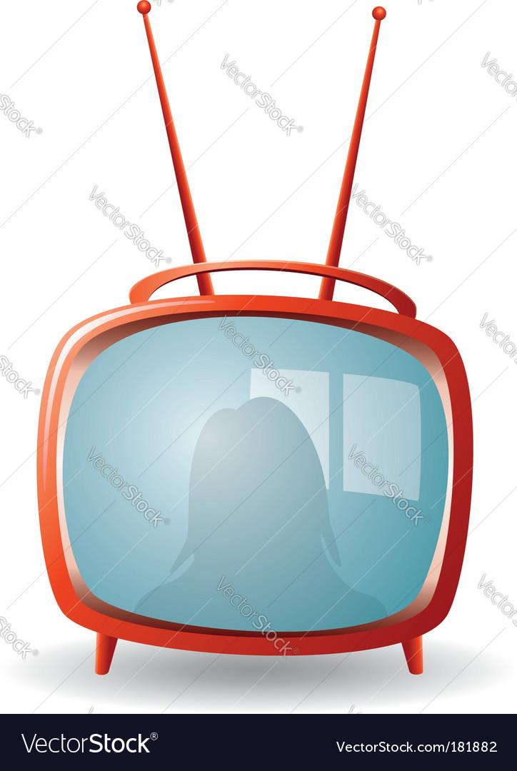 Retro tv set vector | Price: 1 Credit (USD $1)