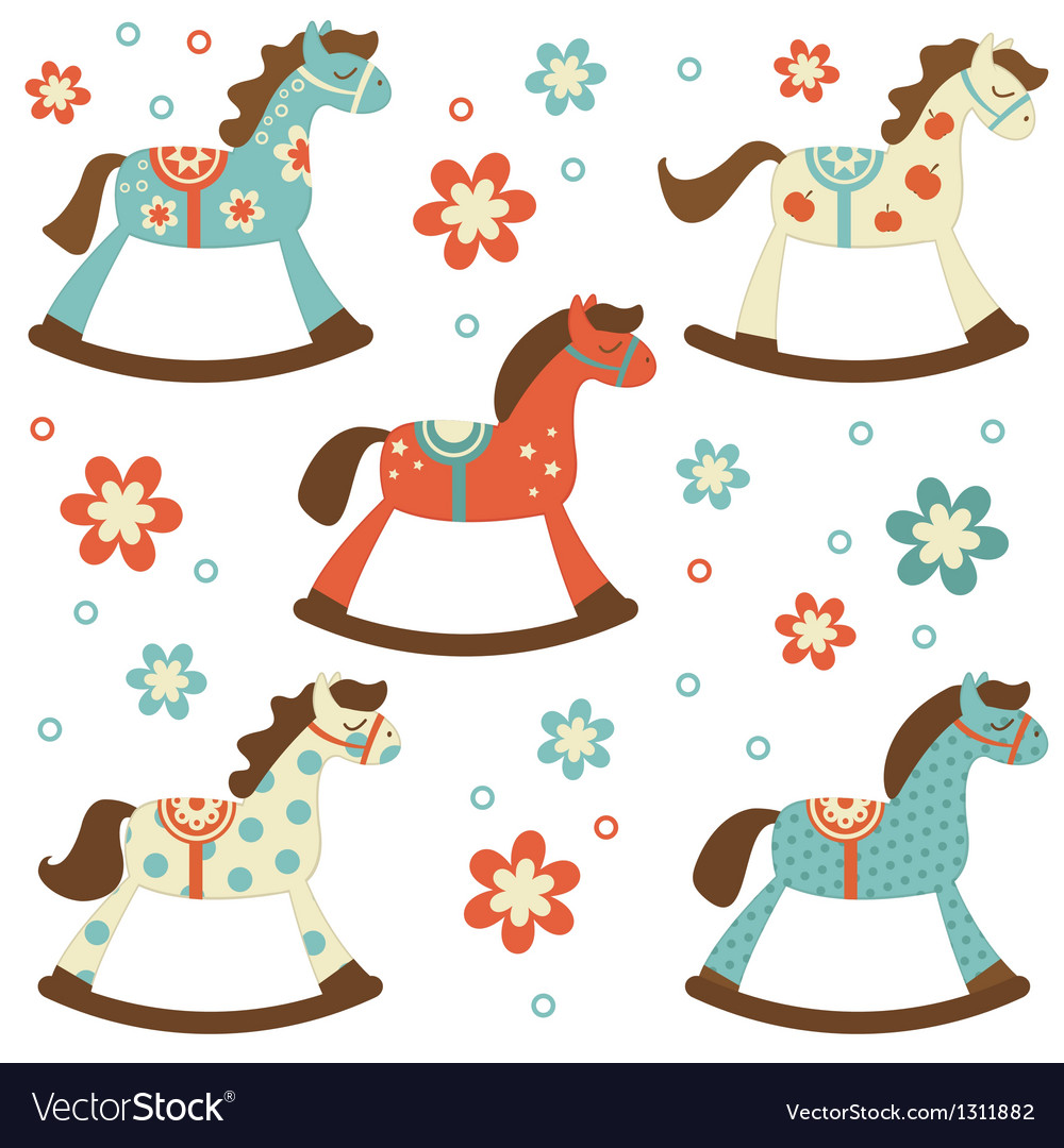 Rocking horses vector | Price: 1 Credit (USD $1)