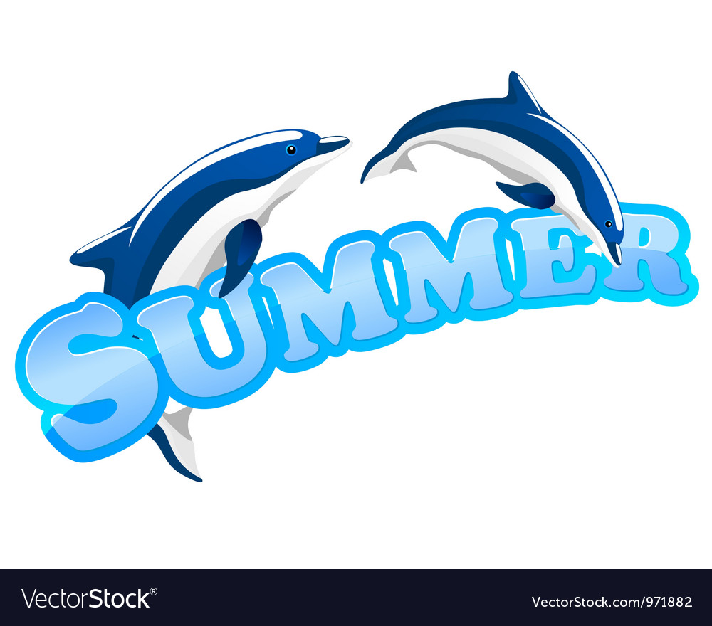 Summer dolphins vector | Price: 1 Credit (USD $1)