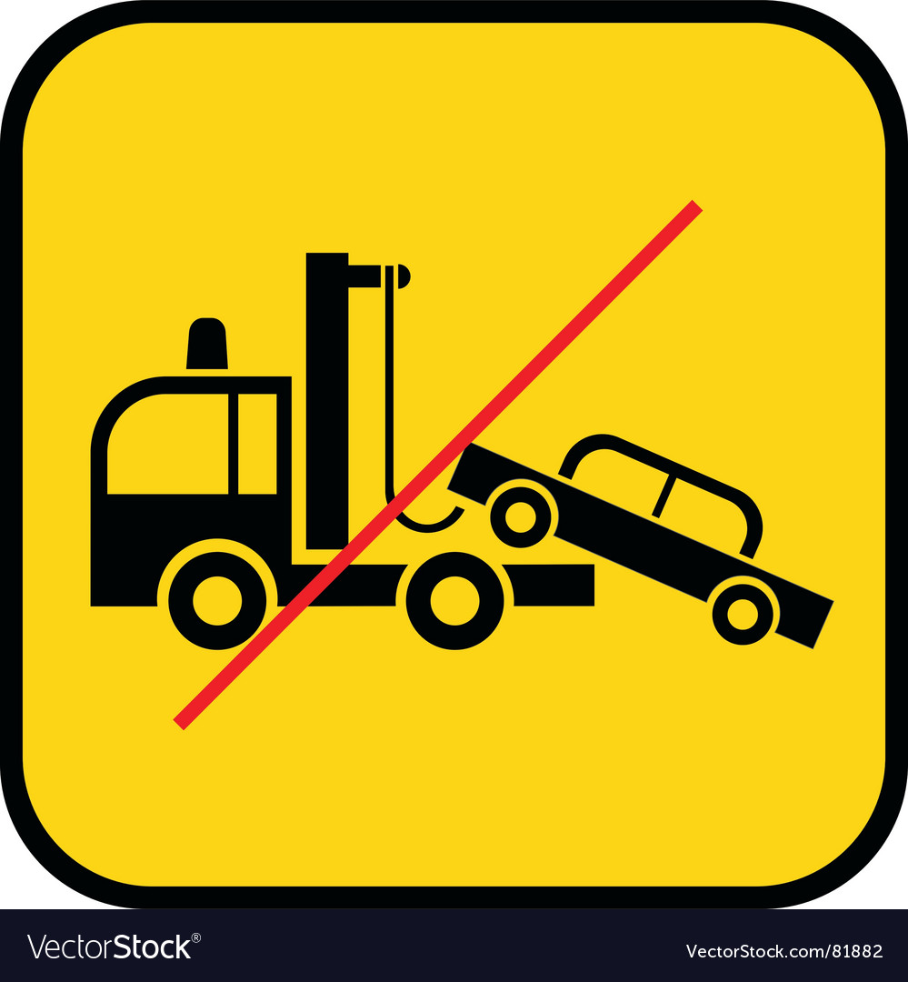 Tow truck use prohibited vector | Price: 1 Credit (USD $1)
