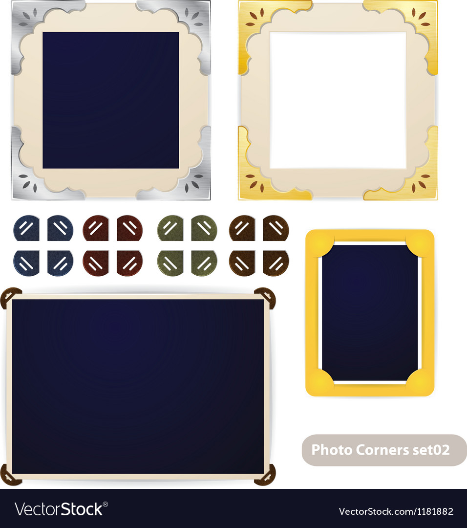 Vintage photo frames and corners vector | Price: 3 Credit (USD $3)