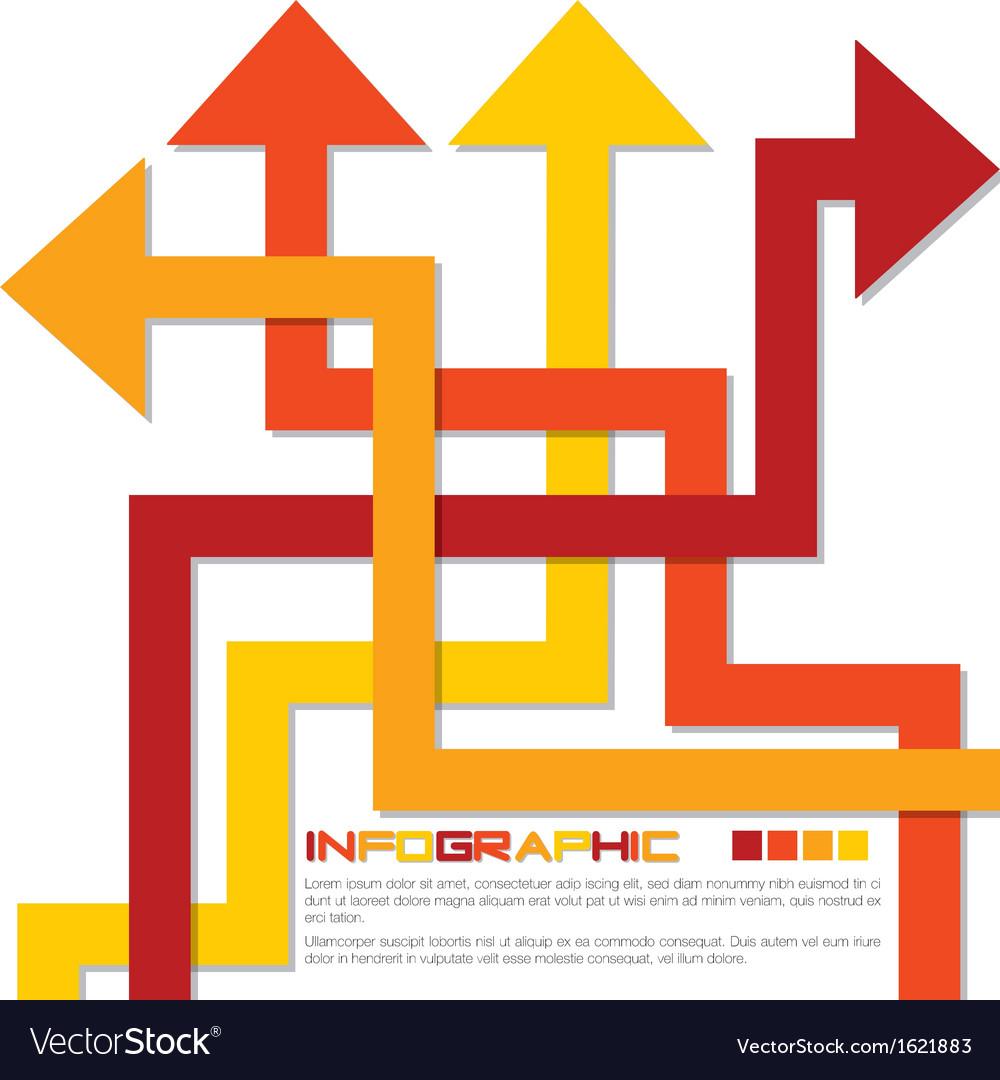 Arrow infographics vector