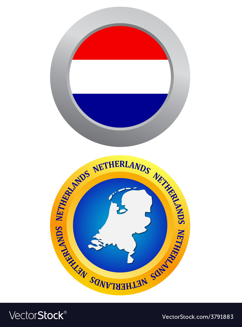 Button as a symbol netherlands vector | Price: 1 Credit (USD $1)