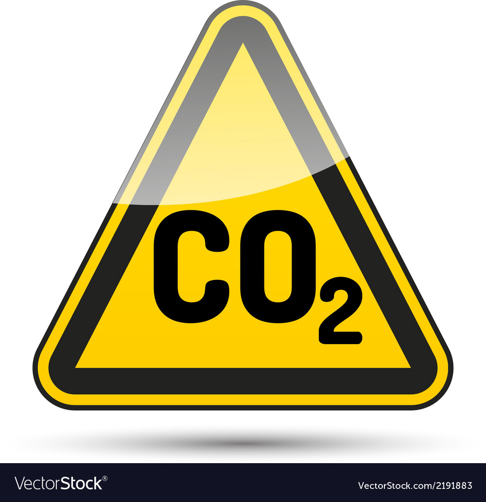 Co2 danger triangle vector | Price: 1 Credit (USD $1)