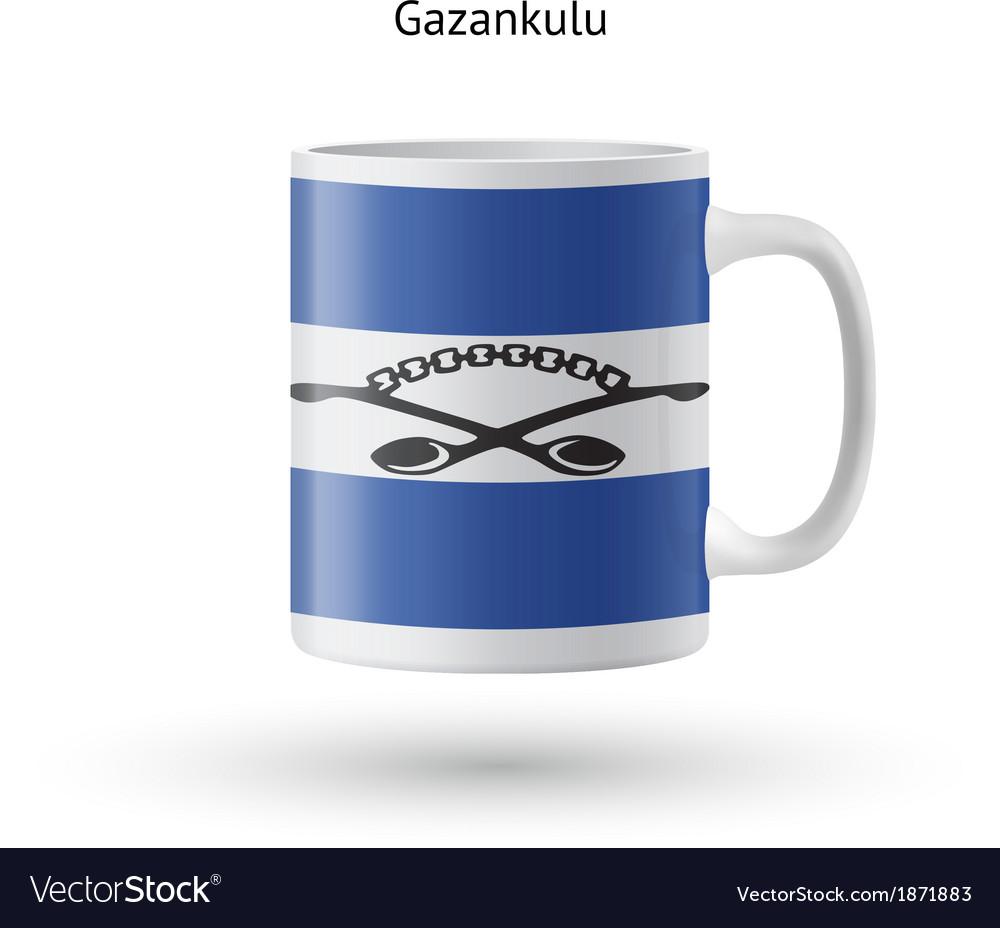 Gazankulu flag souvenir mug on white background vector | Price: 1 Credit (USD $1)