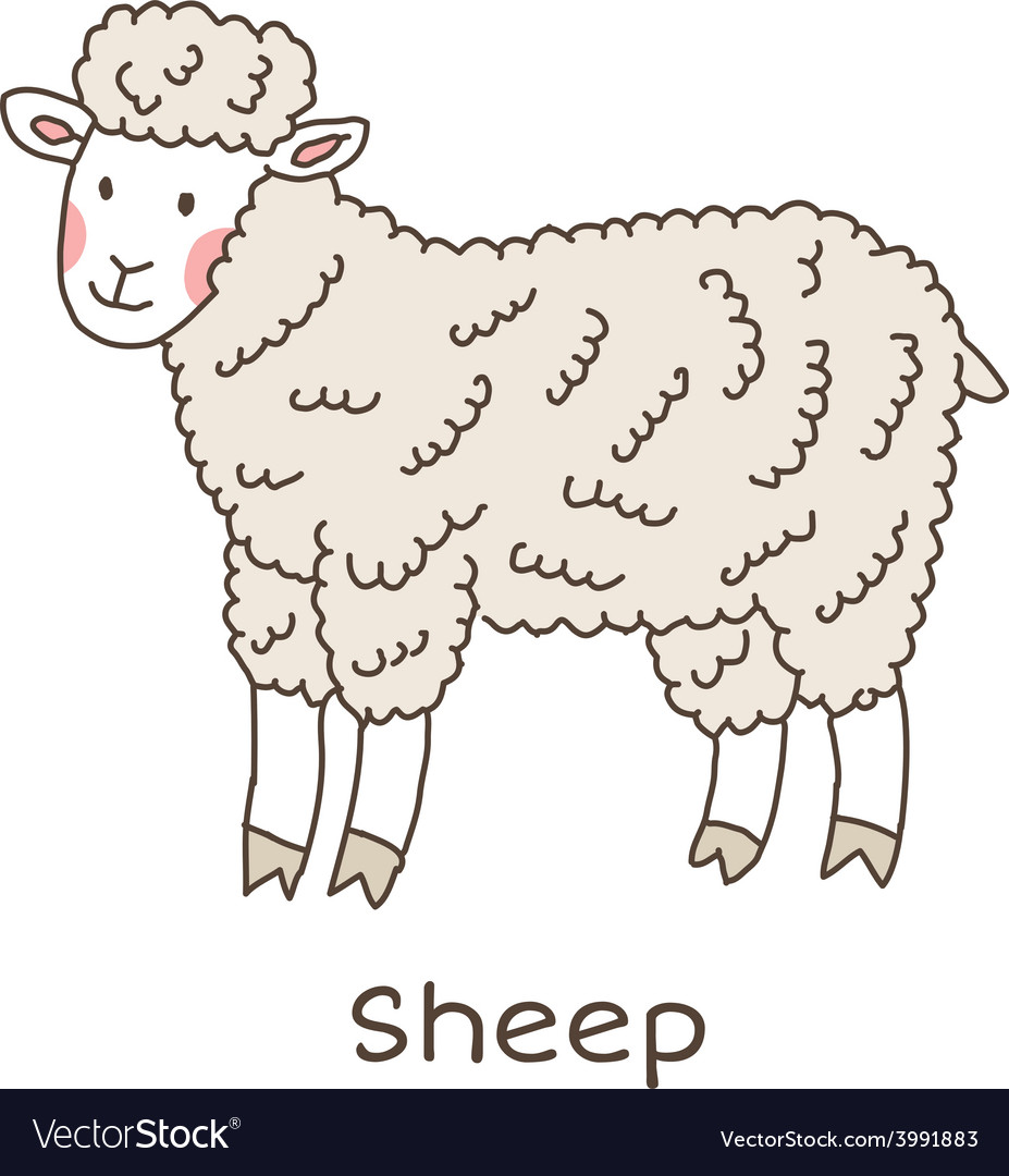 Lineart sheep vector | Price: 1 Credit (USD $1)