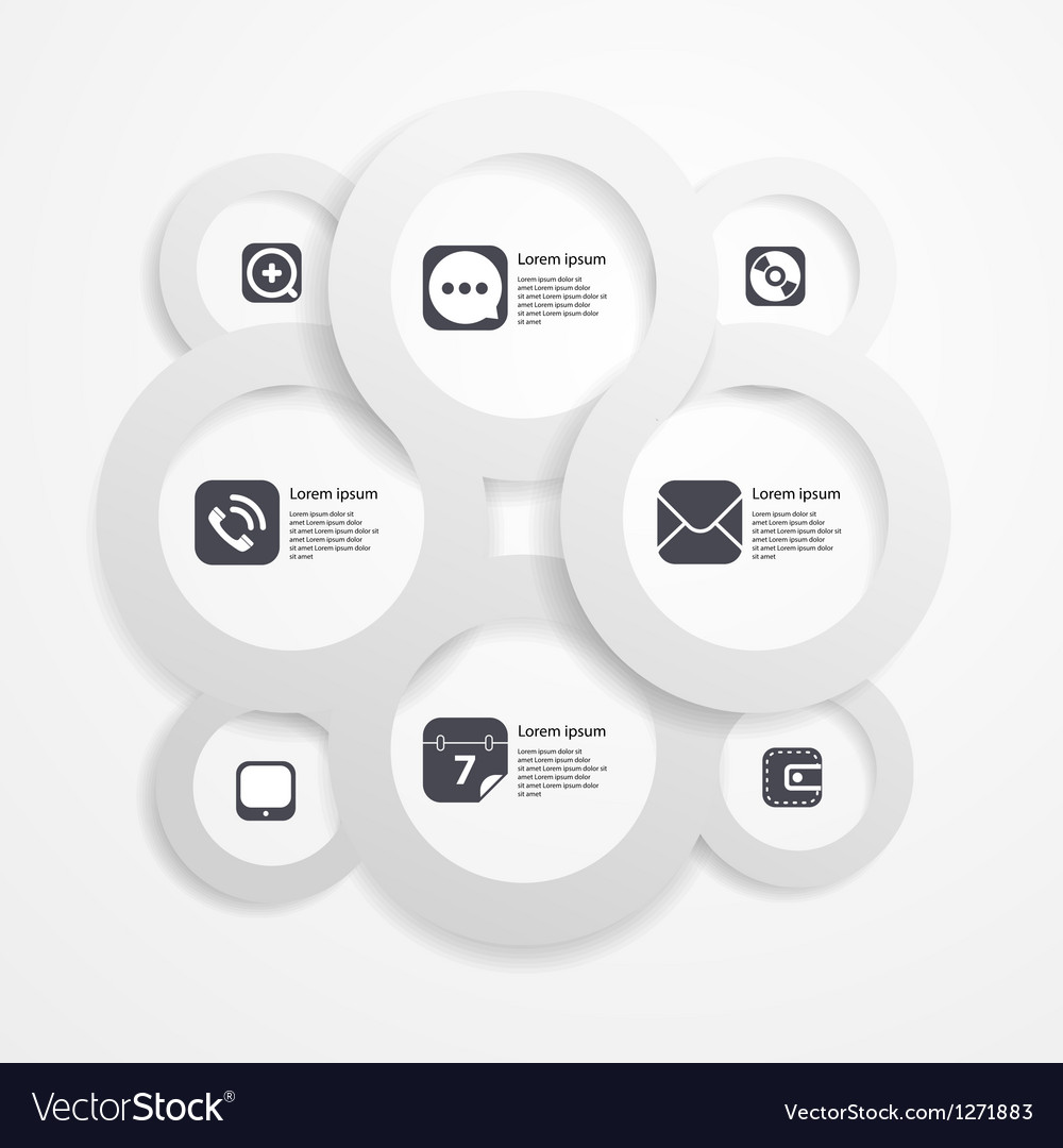 Paper circle infographic web template vector | Price: 1 Credit (USD $1)