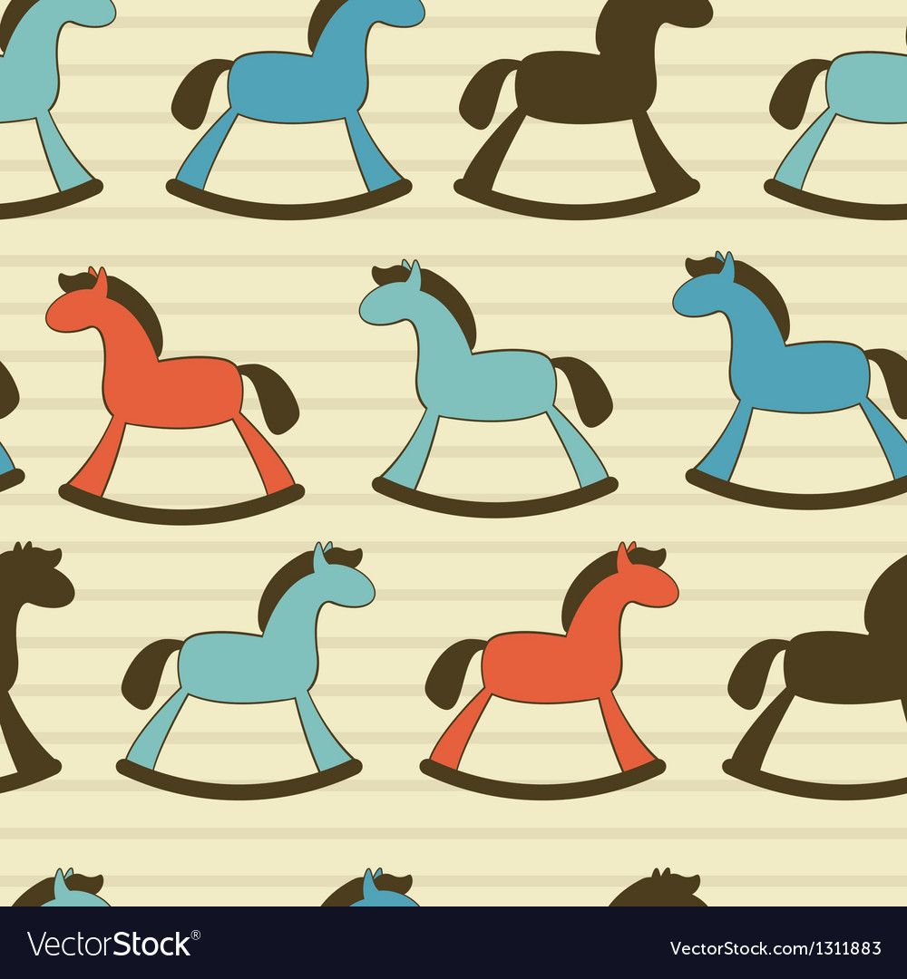 Rocking horses pattern vector | Price: 1 Credit (USD $1)