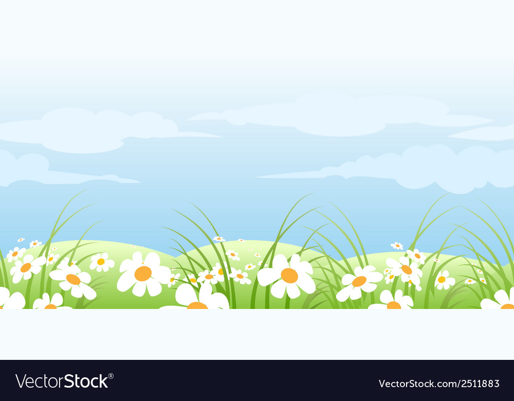 Summer meadow pattern vector | Price: 1 Credit (USD $1)