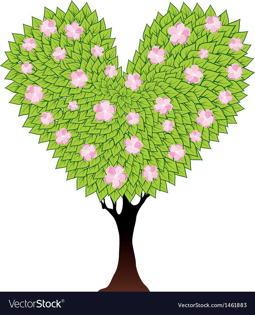 Tree heart vector | Price: 1 Credit (USD $1)