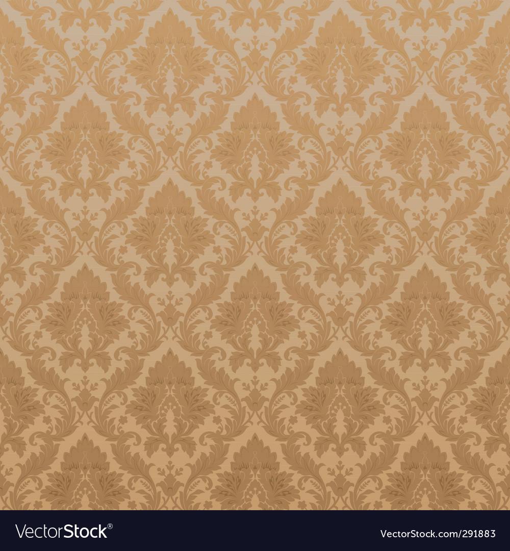 Vintage damask wallpaper vector | Price: 1 Credit (USD $1)