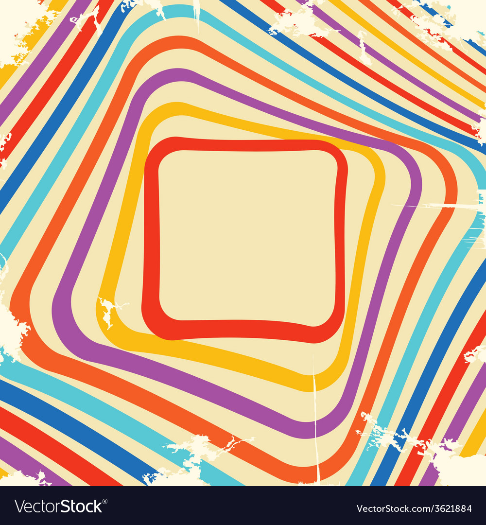 Abstract retro frame design vector | Price: 1 Credit (USD $1)