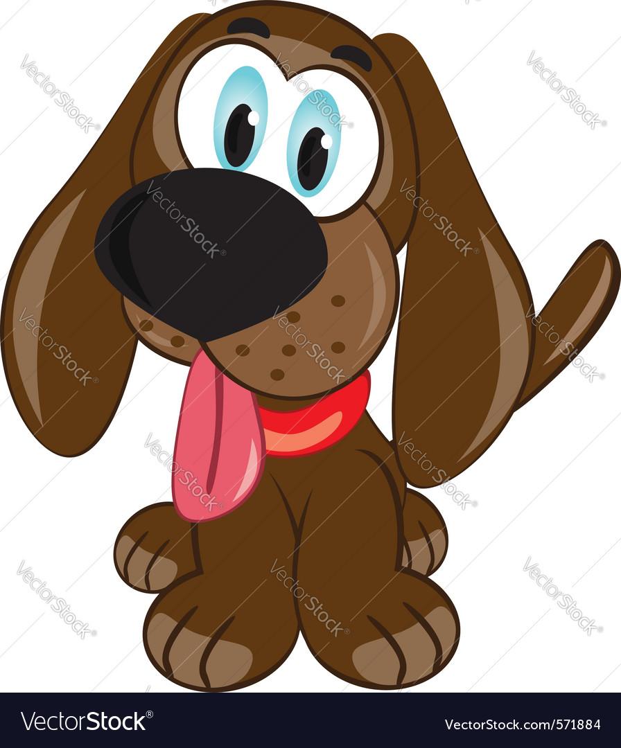 Cartoon puppy vector | Price: 1 Credit (USD $1)