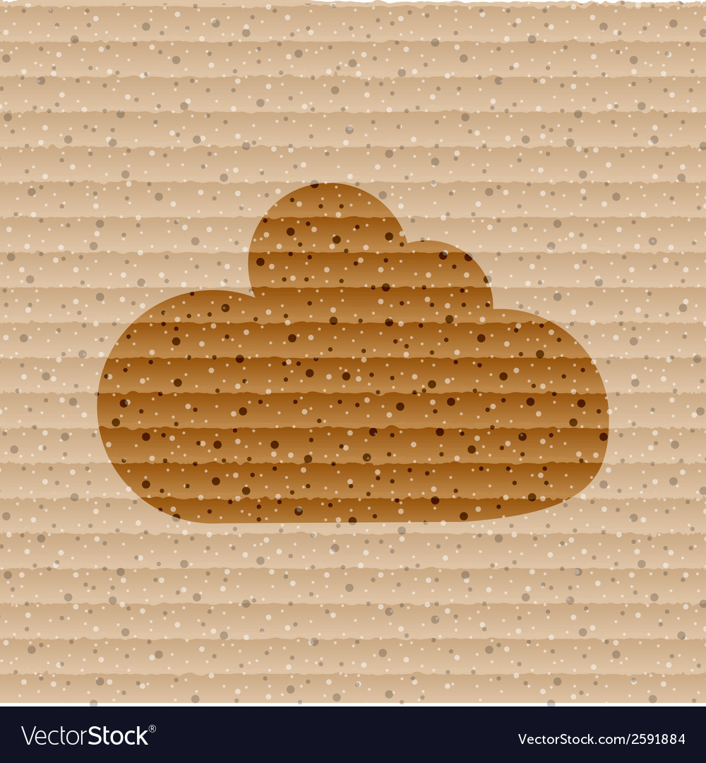 Cloud download application web icon flat design vector | Price: 1 Credit (USD $1)