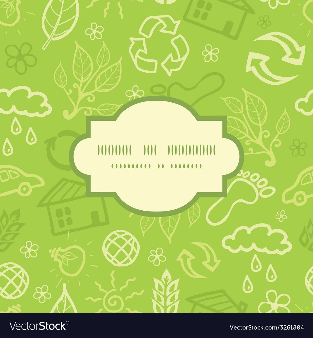 Environmental frame seamless pattern background vector | Price: 1 Credit (USD $1)