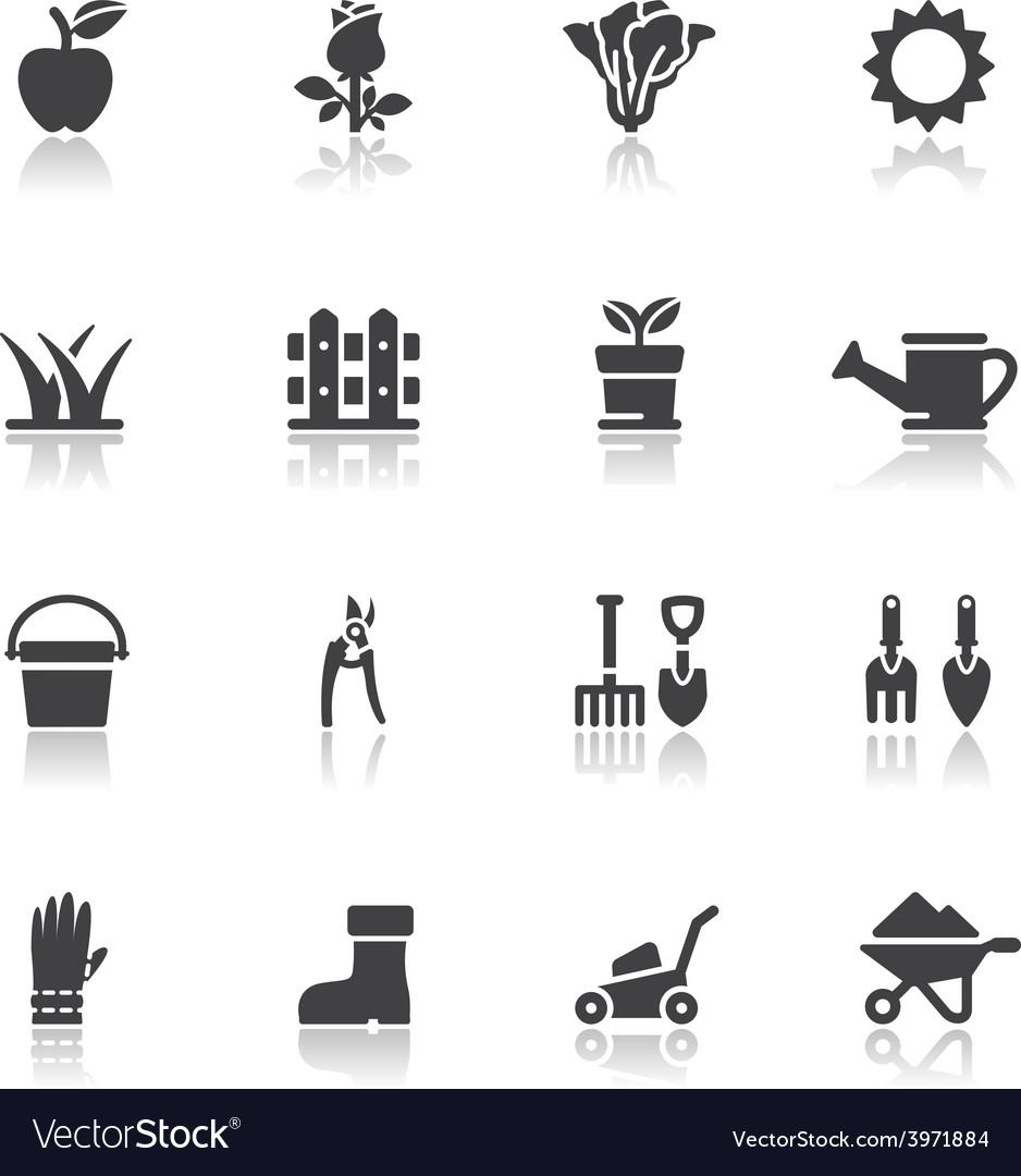 Gardening icons vector | Price: 1 Credit (USD $1)
