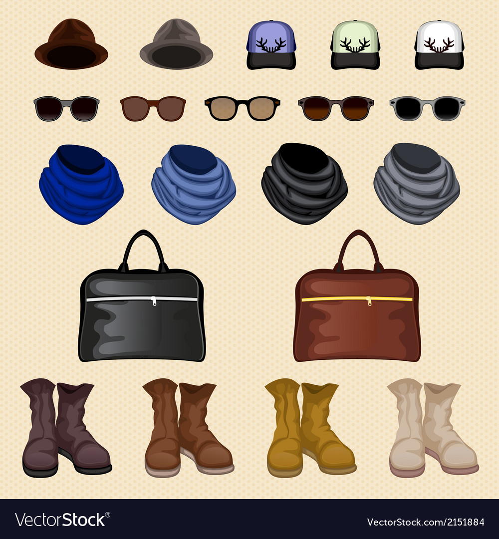 Hipster accessories man vector | Price: 1 Credit (USD $1)