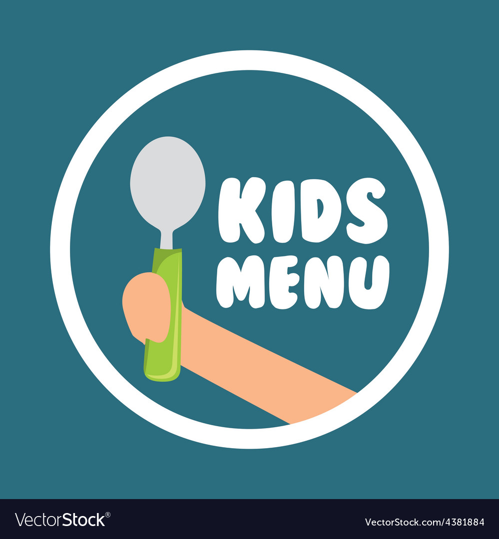 Kids menu design vector | Price: 1 Credit (USD $1)