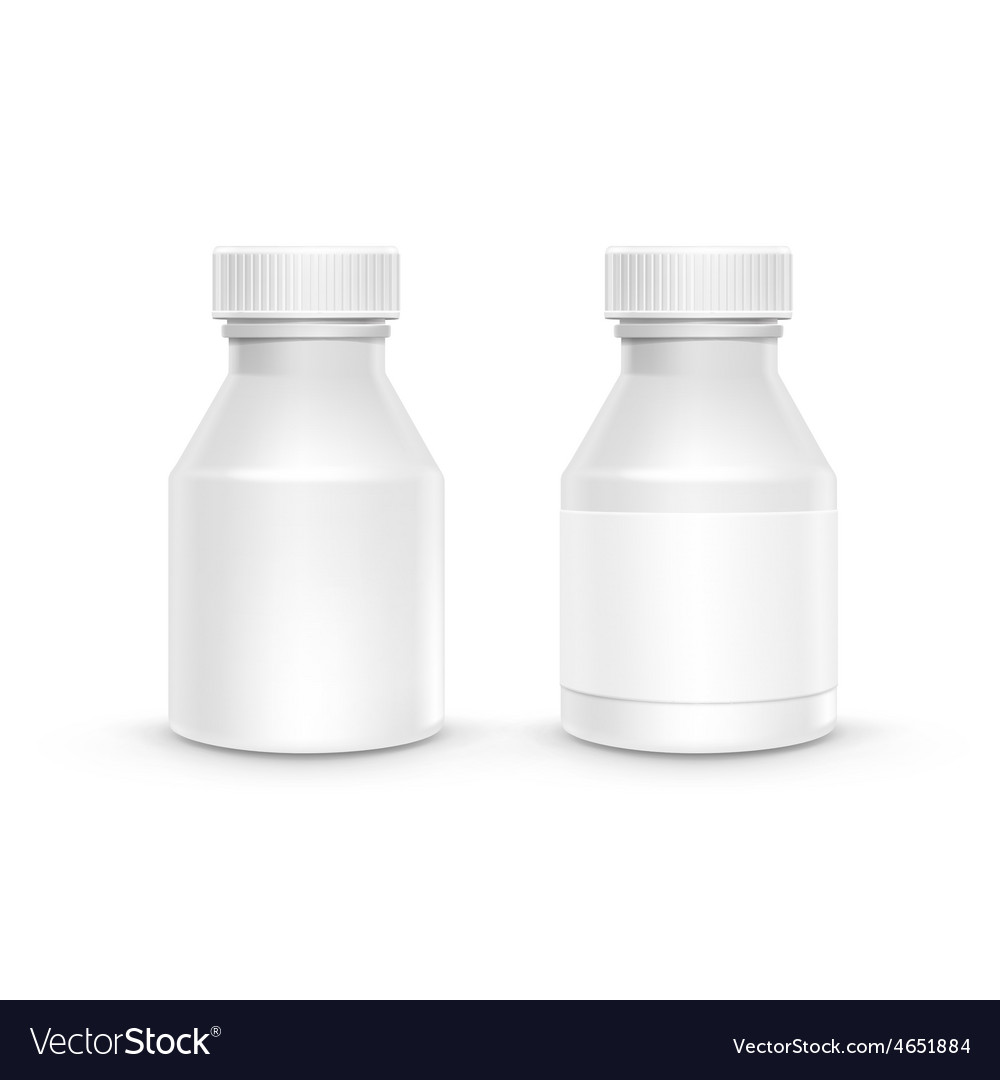 Plastic packaging bottle with cap for pills vector | Price: 1 Credit (USD $1)