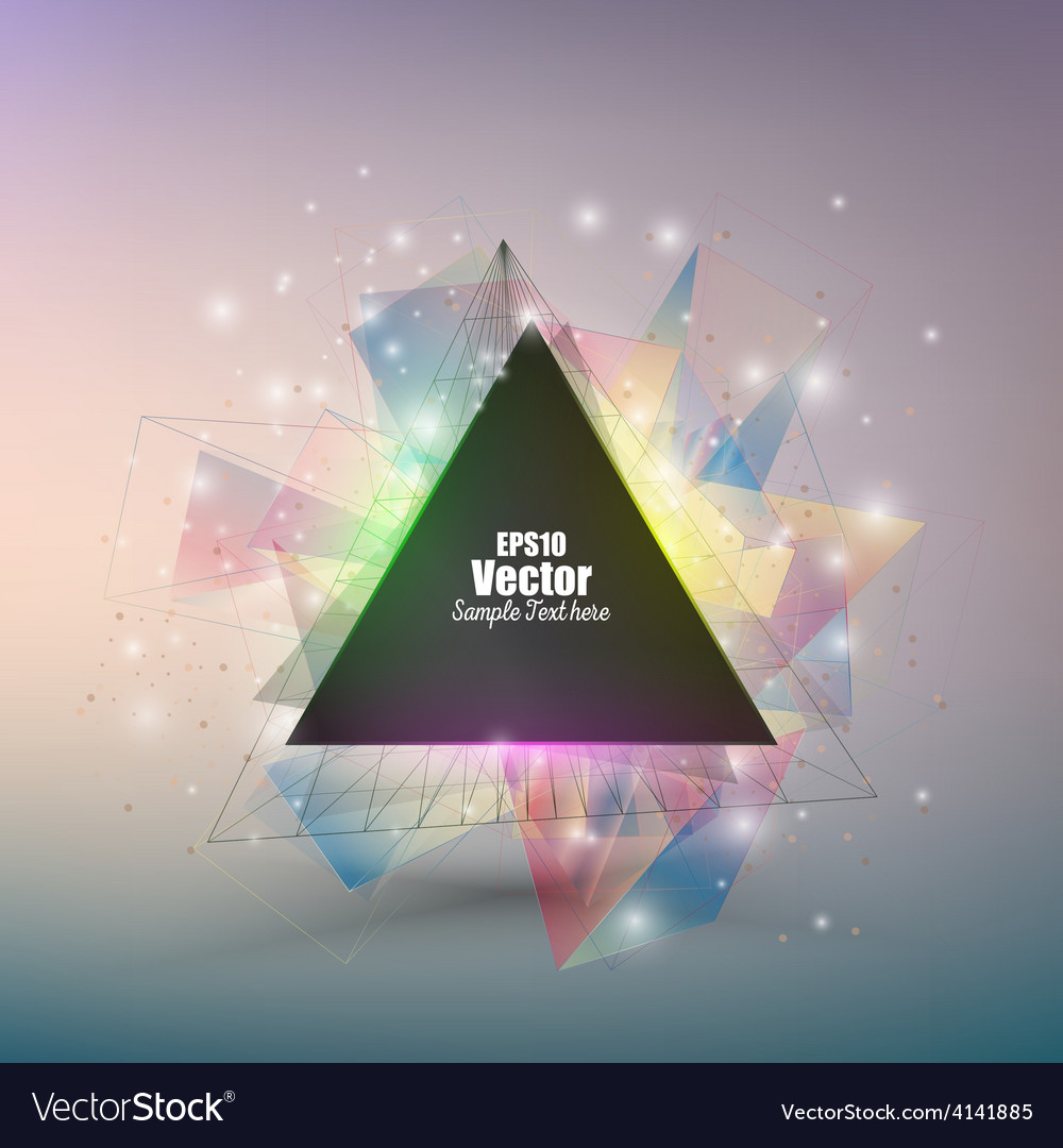 Abstract triangle banner with place for text vector | Price: 1 Credit (USD $1)