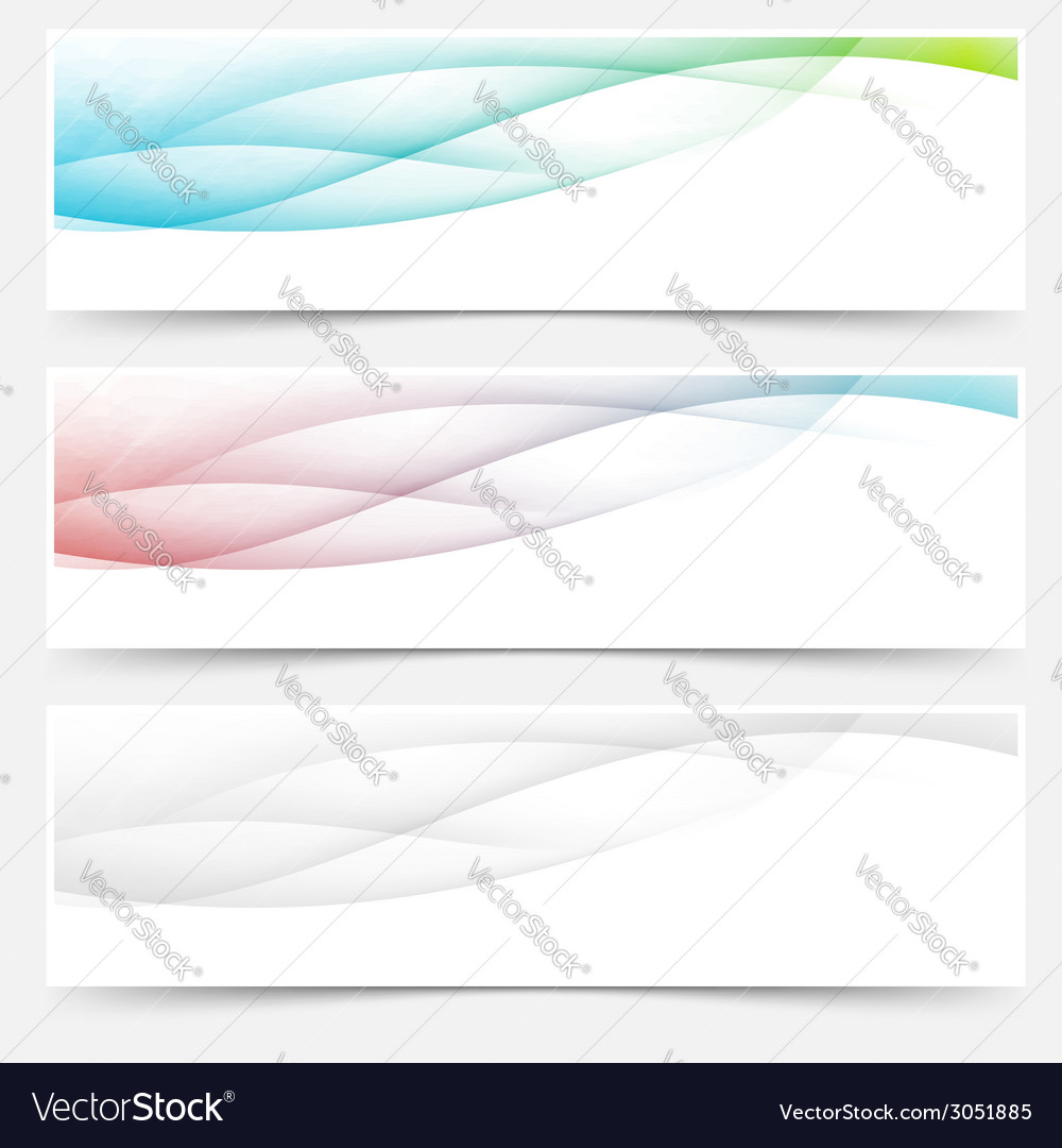 Bright web headers footers wave swoosh vector | Price: 1 Credit (USD $1)