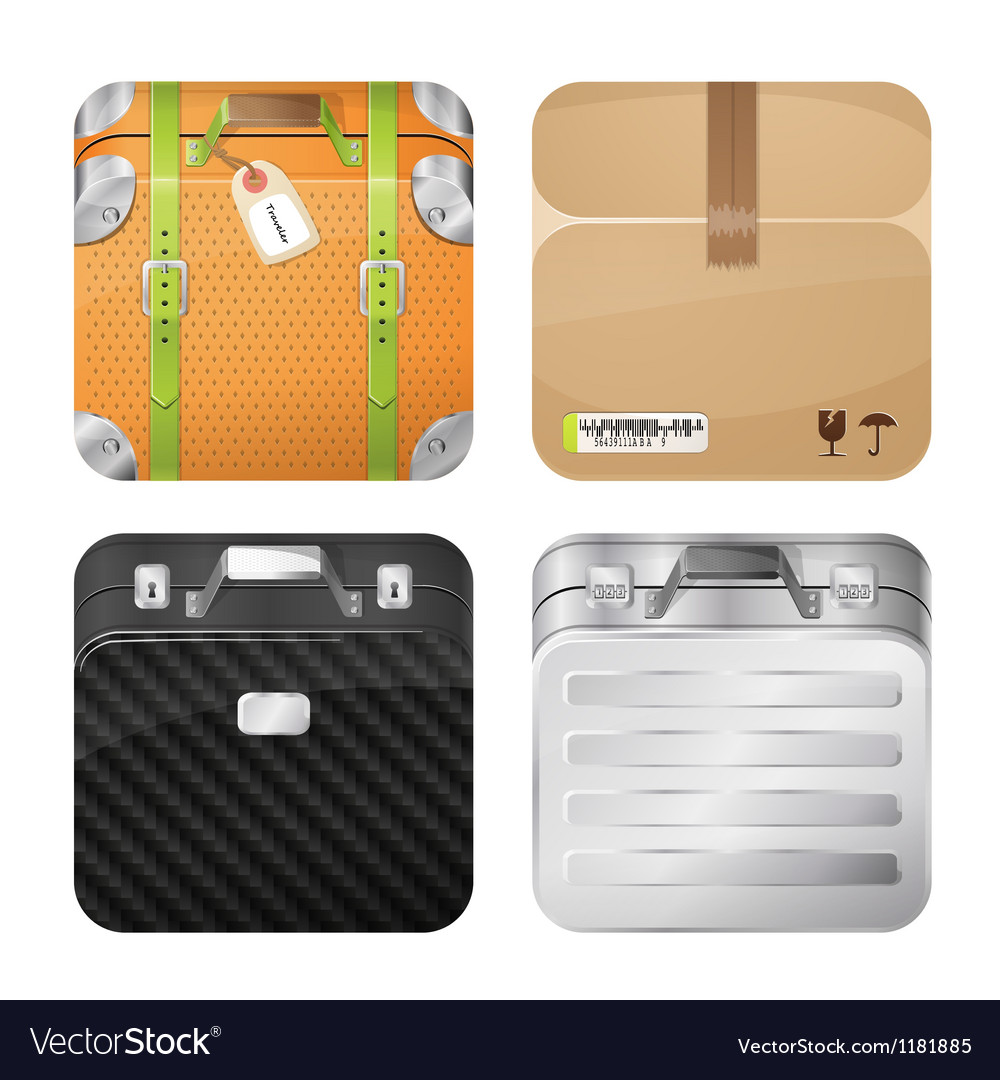 Cases and parcel vector | Price: 3 Credit (USD $3)