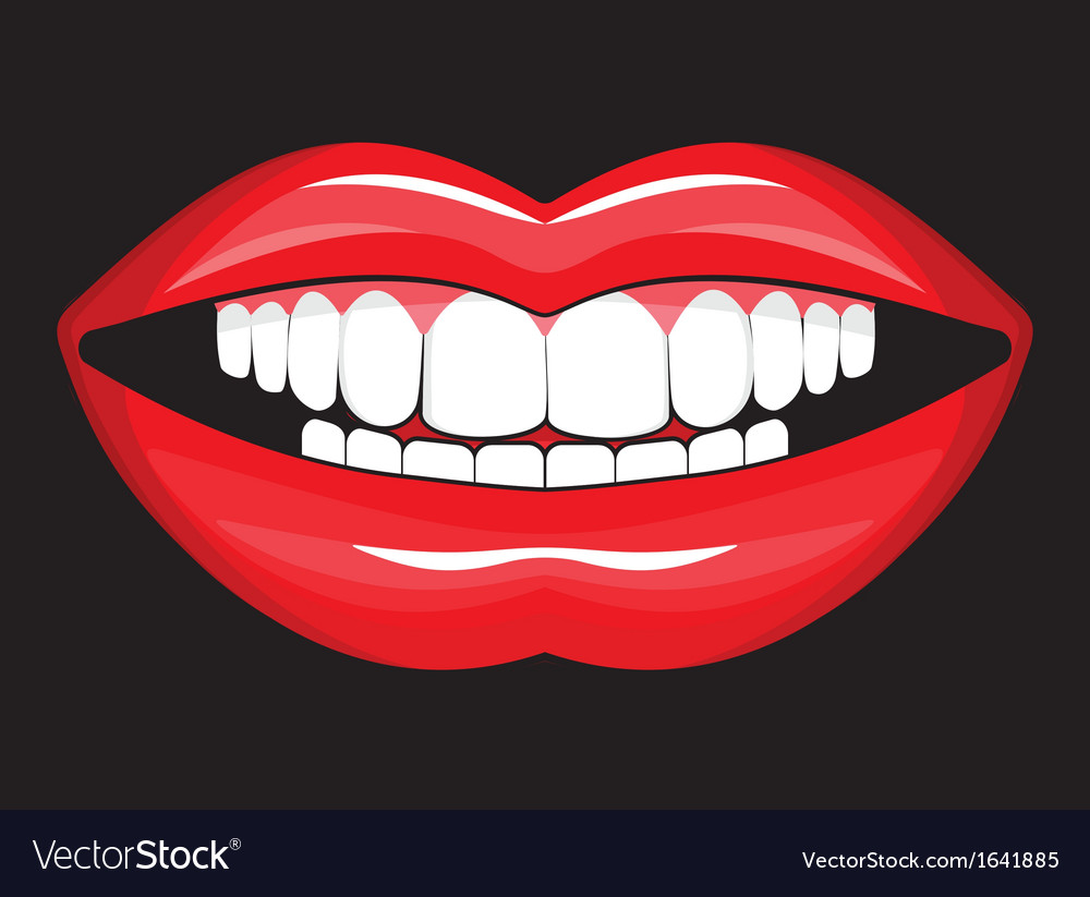 Glossy female lips vector | Price: 1 Credit (USD $1)