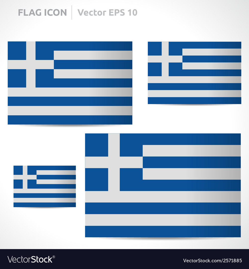 Greece flag template vector | Price: 1 Credit (USD $1)