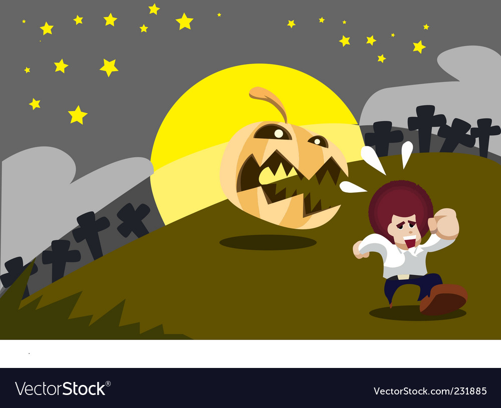 Halloween cartoon vector | Price: 1 Credit (USD $1)