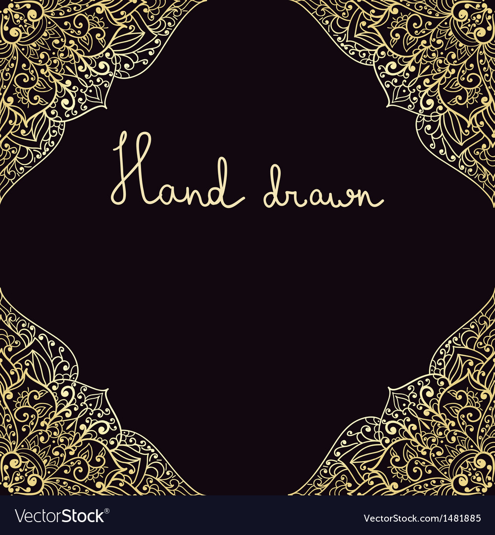 Hand drawn highly detailed frame vector | Price: 1 Credit (USD $1)