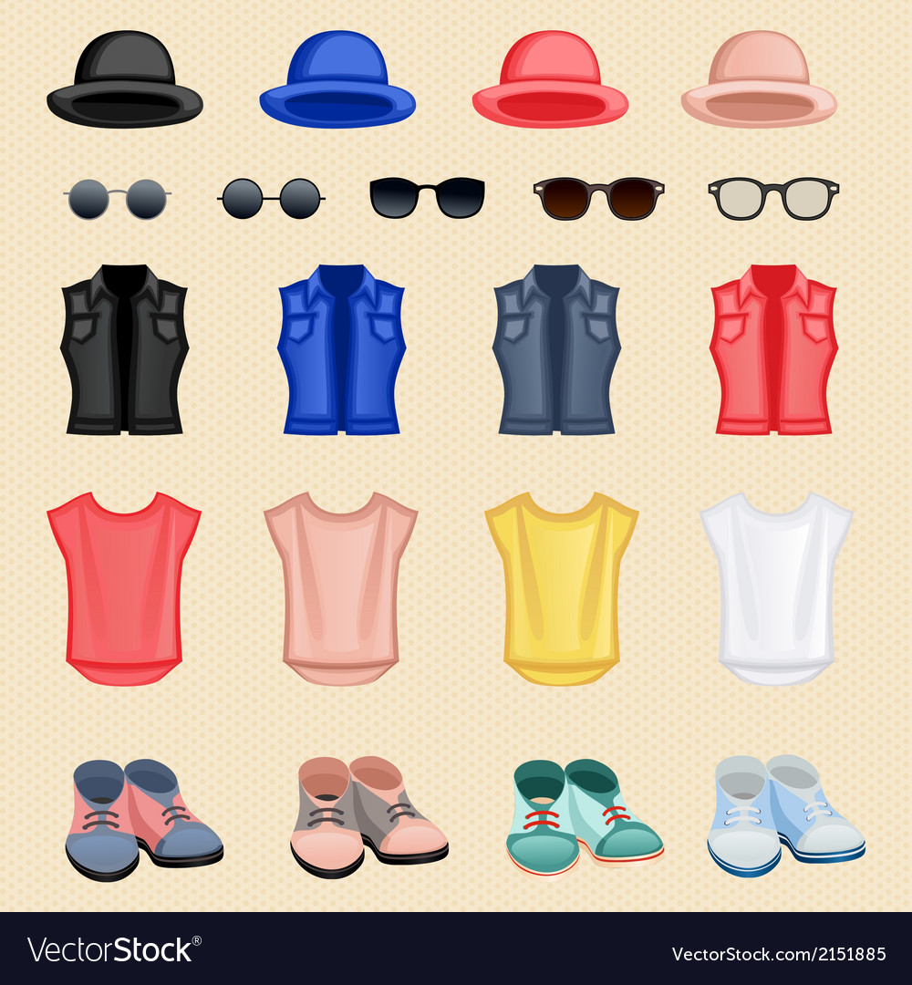 Hipster girl accessories vector | Price: 1 Credit (USD $1)