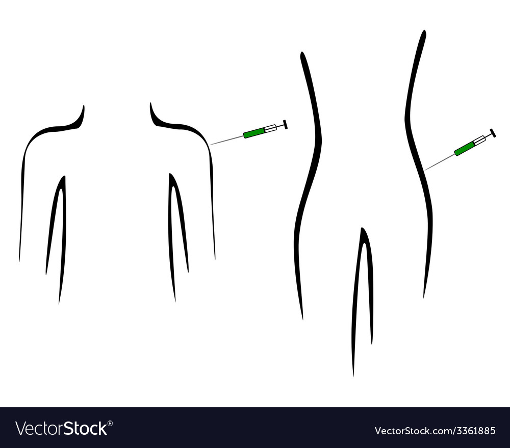 Inoculation for people vector | Price: 1 Credit (USD $1)