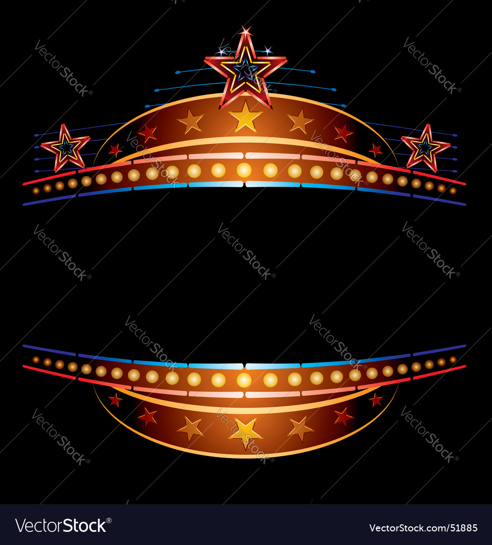 Neon with stars vector | Price: 1 Credit (USD $1)