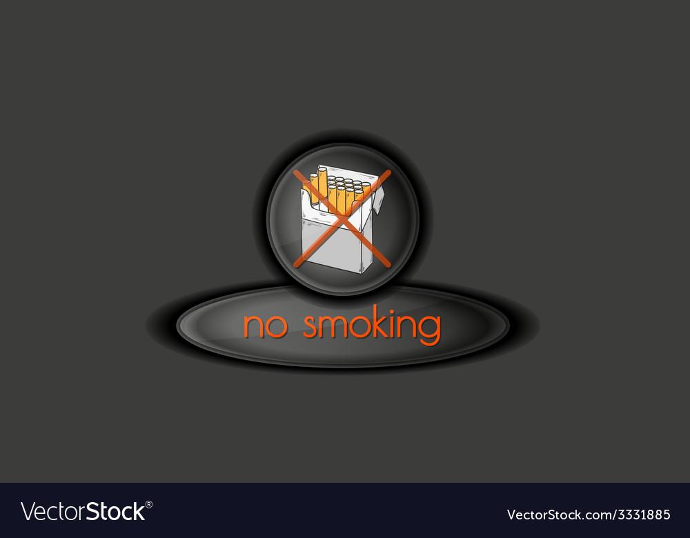 No smoking button vector | Price: 1 Credit (USD $1)